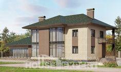 305-003-П Проект двухэтажного дома, огромный домик из керамзитобетонных блоков