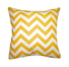 Yellow Throw Pillow - Premier Prints Zig Zag Yellow Corn Lumbar or Square Decorative Pillow - FREE SHIPPING. $14.99, via Etsy.