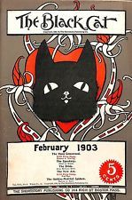"""1903 February """"The Black Cat"""" 5 Complete Stories Short Story Magazine"""