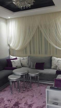Salon marocain Albayt Deco 9 Living Room Decor Colors, Living Room Grey, Murphy Bed Office, Moroccan Decor, Beauty Room, Living Room Inspiration, Sweet Home, House Design, Interior Design