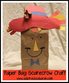 An Easy Paper Bag Scarecrow Craft - Sidetracked Sarah