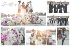 Like the top left shot and the two group shots top right and middle right. Also the bottom right of bride and groom.