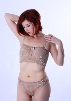 Conjunto Lingerie Cropped Nude Laila Pitanga 0104CL