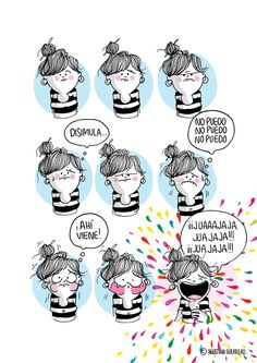 Agustina Guerrero, an illustrator based in Argentina, creates comics that show what her everyday life is like. Her work comments on many of the issues that she, as a woman, deals with on a day to day basis. Funny Photos, Cute Pictures, Humor Grafico, Picture Design, What Is Like, True Stories, Illustration, Hilarious, Cards