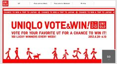 Join UT Vote and WIN Challenge, Win FREE UT UNIQLO T-shirts and a chance to win FREE TRIP for TWO in Japan!