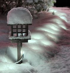 Magical.... lights covered in snow!