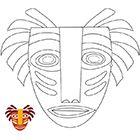 Masque africain à imprimer et  à découper Luau Crafts, African Art For Kids, Mayan Mask, Art Du Monde, Afrique Art, African Quilts, Mosaic Tile Art, Kids Carnival, Mask Painting