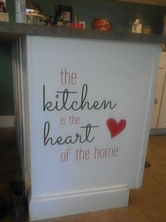 Kitchen is the heart of the home! #uppercaseliving #kitchen #home #quotequeen