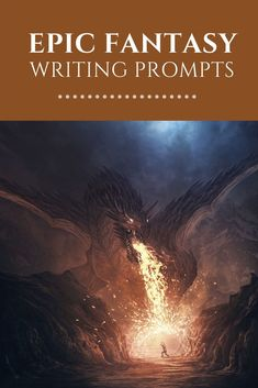 Epic fantasy writing prompts to inspire and motivate you. Fallen kings, unleashed dragons, and epic battles-- they're all here! Fiction Writing Prompts, Book Prompts, Writing Promps, Book Writing Tips, Story Prompts, Better Writing, Dialogue Prompts, Writing Quotes, Writing Ideas