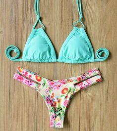 8b88094f23b1f0 17 Women Swimwear Vintage Micro Bikini Girls Cutest Padded Retro Bikini Set  Ladies Brazilian Swimsuit Maillot