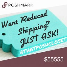 ♥ Just Ask! ♥ CLOSET CLEAROUT! ♥ Ends 3/20/17 ♥ Surprise! Another Poshmark Closet Clear-out event means Reduced Shipping!  GREAT TIME TO ASK FOR A BUNDLE! Combined with my current sale, this is a great time to grab those items you want and need.  * B4 you buy, LIKE the listing(s), & let me know in a COMMENT that you'd like reduced shipping!  *** PLEASE SHARE, & HAPPY POSHING! *** Ask for a Bundle! Other