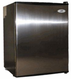 Sunpentown RF-250SS-2.5 cu.ft Compact Refrigerator in Stainless by Sunpentown. $187.50. Product Description Flush back, compact design is ideal for college dorm room or office, perfect for counter-top placement. Reversible doors offer versatility. Features tall bottle door rack, separate ice maker chamber and adjustable thermostat