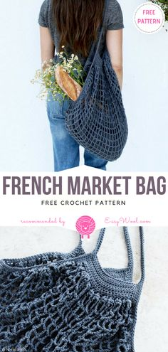 French Market Bag Free Crochet Pattern | EASYWOOL