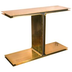Super Chic Brass Console | From a unique collection of antique and modern console tables at https://www.1stdibs.com/furniture/tables/console-tables/