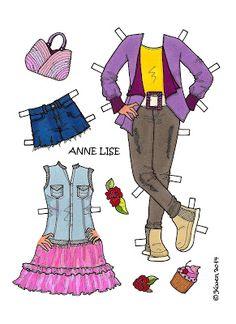 Karen`s Paper Dolls: Anne Lise 1-5 Paper Doll to Print in Colours. Anne Lise 1-5…