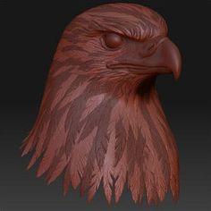 Wood Carving Art, Wood Art, Eagle Head, Cg Art, Birds Of Prey, Zbrush, Character Concept, Art Tutorials, Sculpting
