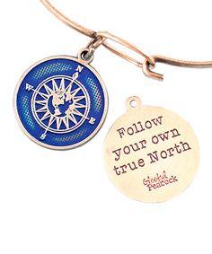 Look at this #zulilyfind! Midnight True North Charm Bracelet #zulilyfinds