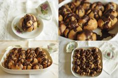 Profiteroles with chocolate filling