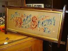 """Victorian Sampler Motto """"As Thy Days So Shall Thy Strength Be"""" - Found on Ruby Lane - Antique Victorian Home Decor"""