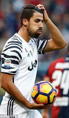 Juventus' Sami Khedira reacts during the defeat