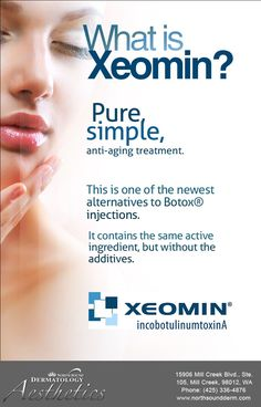 Although Botox® allergies are rare, Xeomin reduces the risk even more by eliminating additives.  Visit http://www.northsoundderm.com/cosmetic-dermatology/xeomin.html for more information. #Xeomin
