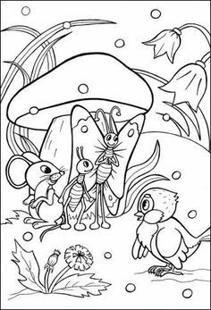 Воробей проситься під грибок Cute Coloring Pages, Disney Coloring Pages, Adult Coloring Pages, Coloring Pages For Kids, Coloring Sheets, Coloring Books, Story Drawing, Christmas Arts And Crafts, Object Drawing
