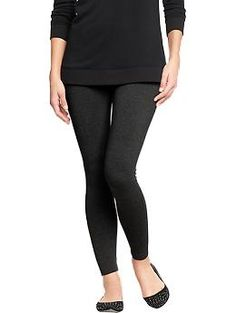 Old Navy Jersey Leggings Size: Small Color: Heather Dark Gray or Jet Black