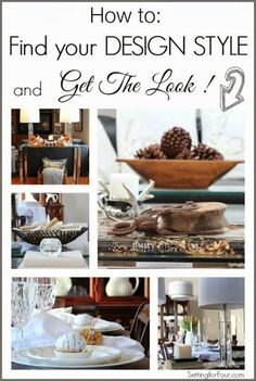 Often it can be difficult to know how to design and decorate a room. Where do you start? How do you 'Get the Look' of a style that's your own?  As an Interior Decorator I've discovered a few tips and tricks over the years on how to 'Find your Design Style and Get the Look'!  See them here!