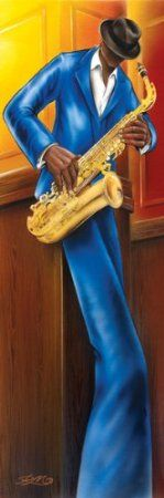 Amazon.com: Jazz-Saxophone, Art Slim Poster Print, 12 by 36-Inch: Home & Kitchen