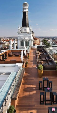 Hip heritage hotel with a buzzy rooftop bar within striking distance of Madrid's must-see sights.