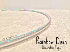 "HDPE Rainbow Dash Deco Taped Hoop - INCLUDES Clear Protective Tape & Inner Gaffer - 3/4"" or 5/8"""