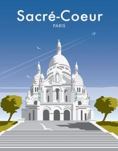 """Paris Sacre-Coeur This """"Sacre Coure"""" photographic art print is created using state of the art, industry leading Digital printers. The result - a stunning reproduction at an affordable price."""