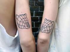 Bear - Geometric - Animal tattoo