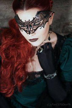Lace bat mask