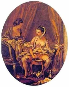 A François Boucher, very daring, Intimate toilet. Thyssen-Bornemisza, Madrid-Lady Isis' Toilet: Keeping clean in the 18th century