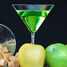 Butterscotch and sour apple schnapps are combined with vodka to make this fabulous autumn-inspired drink.