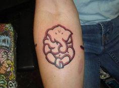 Red Ganesh Tattoo On Arm
