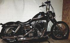Harley Dyna, Harley Davidson Dyna, Bobber Style, Dyna Wide Glide, Sportster 883, Radio Flyer, Old Motorcycles, Bobber Chopper, Bobbers