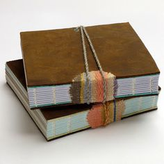 Woven Spine #book by Kate Bowles: #bookbinding mixed with #weaving