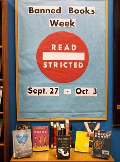 READSTRICTED - Banned Books Week - Teen Display - September 2015 - Sparta Free Library