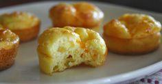 Mini suflês de queijo
