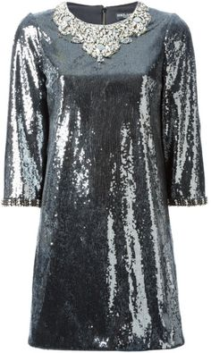 Love this: DOLCE & GABBANA Sequin Embellished Mini Dress @Lyst