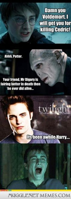 Image result for harry potter vs twilight meme