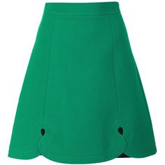 Roland Mouret classic a-line skirt ($850) ❤ liked on Polyvore featuring skirts, green, green skirt, a line skirt, knee length a line skirt, green a line skirt and roland mouret