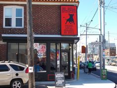 No Bull Burgers - cute store front, disappointing food. Click the pic for the full review. #restaurant #food #poutine Cute Store, Poutine, Restaurant Food, Store Fronts, Burgers, Hamburgers