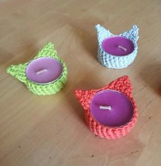 cute candle holders..soon crochet pattern on etsy!