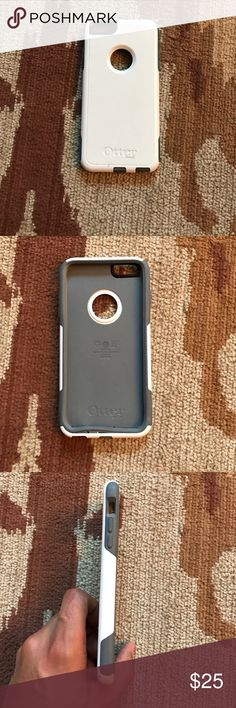 iPhone 6 Plus Otterbox Symmetry case White and gray iPhone 6plus otter box used some scratches but normal wear and tear nothing really noticeable Accessories Phone Cases