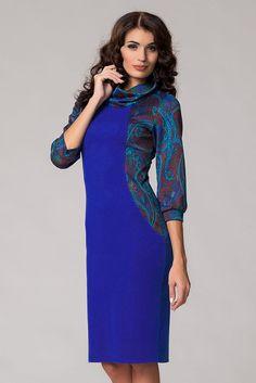 Уютное платье облегающего силуэта яркой расцветки. Удобство в носке изделию добавляют комфорные втачные рукава, посаженные на втачные манжеты, свободный воротник-хомут. Модель дополнена аккуратным разрезом. Длина изделия по спинке (р-р 44-48): 97 см Длина изделия по спинке (р-р 50-54): 102 см Ткань: трикотаж. Состав: шерсть 30%, вискоза 40%, п/э 25%, эластан 5%. Рост модели - 170 см, размер — 44. #luxury, #modern, #most, #news, #Cruise with us for half the price! It's real! L...