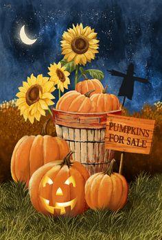 Pumpkins For Sale-Night Sky