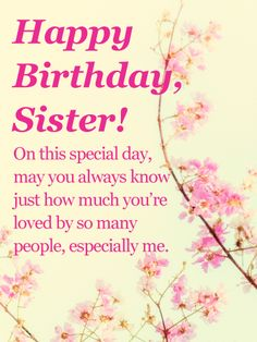 188 Best Birthday Cards For Sister Images